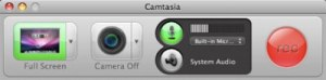 Camtasia Recording Controls