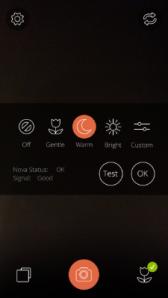 Nova App Flash Settings